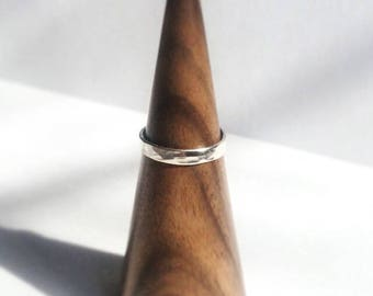 Recycled sterling silver hammered ring