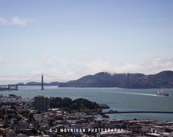 San Francisco Bay, San Francisco, Photograph Print