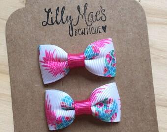 Pineapple Mini Tuxedo Hair Bows, baby & toddler hair clip, mini bow