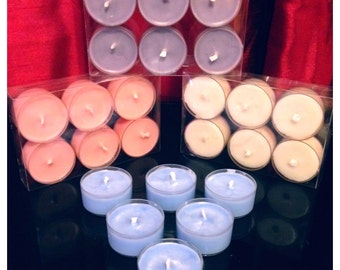 5 Packs Of 6 (30) Perfume Scented Soy Wax Tea Light Candles