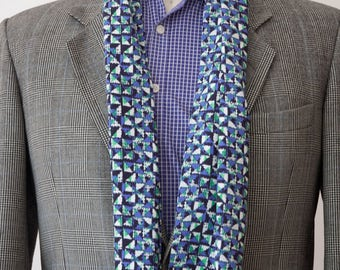 The Geometry Mens Rayon Challis Scarf handmade