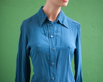 Shirt Blue T36 (fr) S long sleeve - vintage
