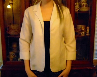 White Linen Jacket-1980s