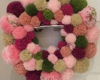 Handmade Pom Pom Ring:Wreath