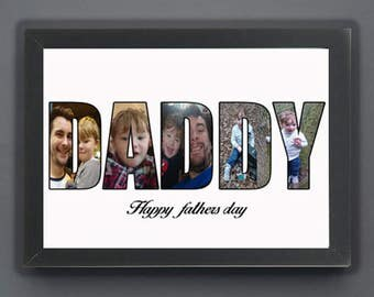 Personalised, Fathers day, Typographic Print