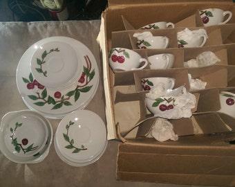 Ceramic Vintage Cherry Dishes