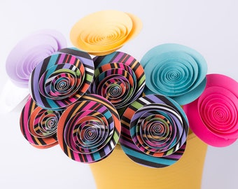 "Hand-made paper flowers - bouquet ""Vintage"""
