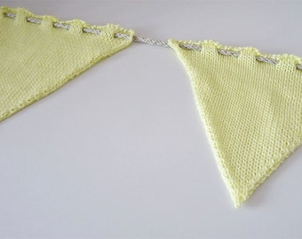 Knitted Bunting - Medium Size Yellow