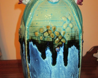 Large Vintage Frog Vase, Collectible!