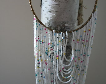 Latest African seed bead necklaces