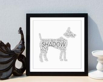 Personalised Man's Best Friend Framed Print