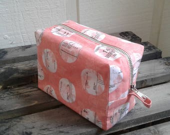 Floral and Sewing Pattern Makeup/Travel Bag