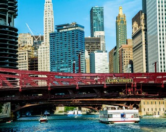 Photography of Clark Street Bridge, Chicago Downtown