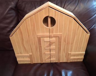 wooden barn for kids, portable, new