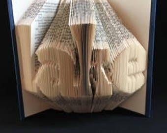 Folded Book- Lake-Unique Gift-Custom Hand Made Art-Christmas-Birthday