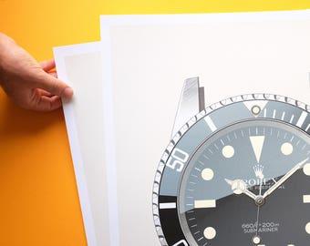 Rolex Submariner 5513 Silkscreen Print (Limited Edition)