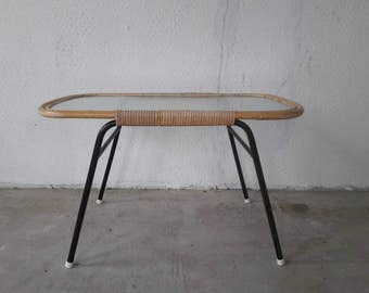 Rattan Coffeetable by Rohe Noordwolde made in Holland