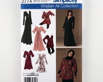 Simplicity Pattern 2774 Misses' / Women's Knit Dress, Knit Tunic, Three Lengths, Bodice Variations, Sizes 10-18 Uncut Khaliah Ali Collection