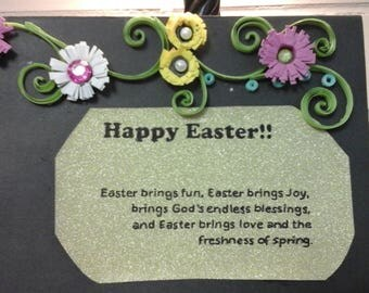 handmade quiling card, Easter Card
