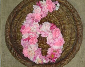 Cottage Garden Custom Floral Number