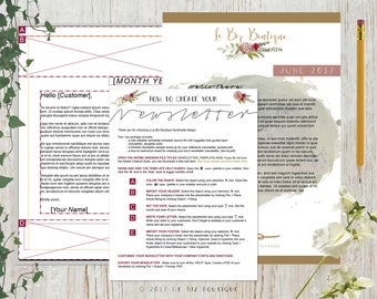 Monthly Newsletter Template Package - A4 - InDesign Template - INSTANT DOWNLOAD