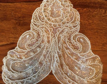 Vintage White and Cream lace applique