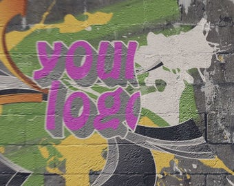 End screen video intro or outro, Logo in graffiti style