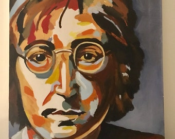 John Lennon Oil Painting on Canvas
