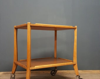 Mid-Century Gordon Russell two tier tea trolley/side table, elegant, rare!walnut