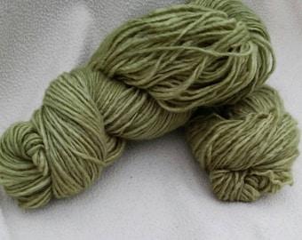 Hand Dyed Yarn - Green Olive by Kiilerich Merino Lux base, 80/20 mulesing free merino/nylon, ca. 200meter /100gram