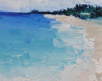 Oasis, Contemporary oil painting, seascape