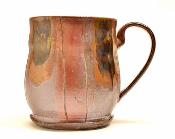 Large Coffee/Beer/Tea Mug, Woodfired Stoneware, 16 oz capacity