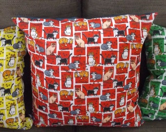 Cushions with cat design
