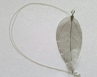 Large Leaf Pendant Necklace