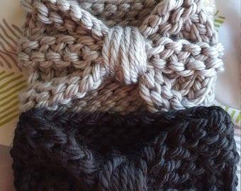 Stylish Knitted Newborn Bow Headband