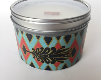 Jasmine scent, 12oz Soy Wax Candle, Hand Poured, Dagger by Serenity Now Candles