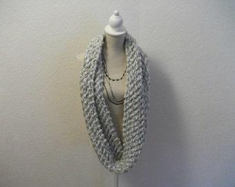 Hand made grey woollen knitted Snood