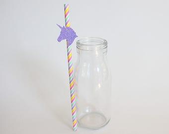 Unicorn Straw, paper straws, rainbow straws, party straws, unicorn party, unicorn cake topper