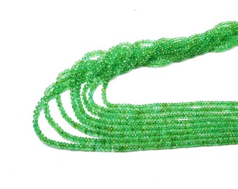 AAA quality EMERALD colombian faceted BEADS 3-5 mm