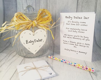 Baby Dates Jar   Baby Shower Idea