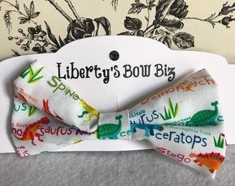 Dinosaur clip on baby bow tie/ hair bow