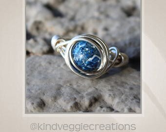 Safe Earth Wire Wrapped Ring - Size 4