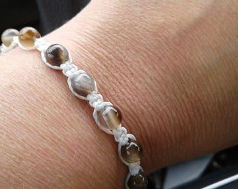 Shamballa Bracelet, Botswana Bracelet, Gemstone Bracelet, Macrame Bracelet, Tibetan Yoga Bracelet, Prayer-Meditation, Adjustable