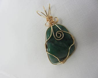 Verdite Wire Wrapped Pendant