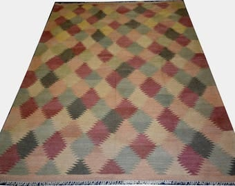 7X5 Afghan Chobi kilim rug ziegler rug area rugs agfhan floor rug oushak turkish baluch rug rug turkish baluch rug kazakhstan kilim rug