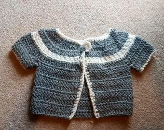 Crochet baby star stiches cardigan