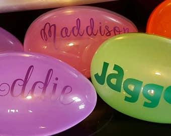 Jumbo personalized Easter eggs
