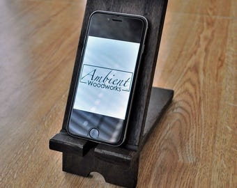 FREE GIFT !, iPhone Stand, iPad Stand, Wood Stand, Wood Smartphone Stand, Wooden Dock, Table Stand, Docking Station, Gift, Wooden, Rustic