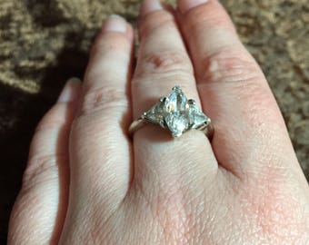 Amazing Sterling Silver past present future ring