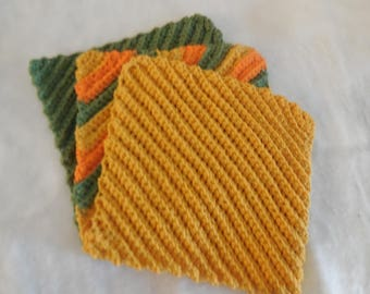 crocheted dishcloth ~ crocheted washcloth ~ dish cloth ~ wash cloth ~ cotton wash cloth